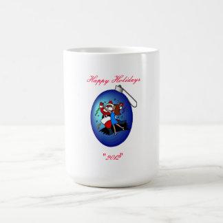Ornamento azul del navidad - taza