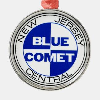 Ornamento azul del parche de tambor del cometa ornamentos para reyes magos
