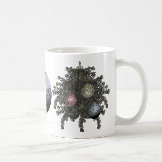Ornamento azul Drinkware del brillo Tazas De Café