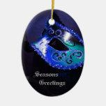 Ornamento azul elegante del día de fiesta de la ornamento de navidad