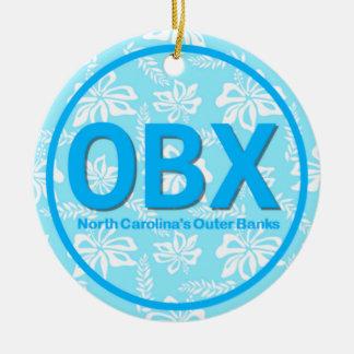 Ornamento azul floral personalizado de OBX Outer Adorno