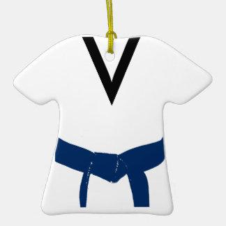 Ornamento azul marino del uniforme de la correa de ornamento para arbol de navidad