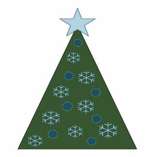 Ornamento azul pacífico del árbol de navidad adorno fotoescultura