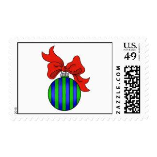 Ornamento azul y verde del navidad - sello