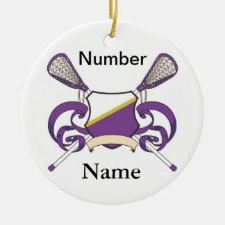 ornamento b del jugador del lacrosse ornamente de reyes