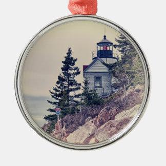 Ornamento bajo de la luz de la cabeza del puerto adorno navideño redondo de metal