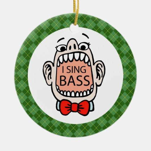 Ornamento bajo de la música del navidad del adorno redondo de cerámica