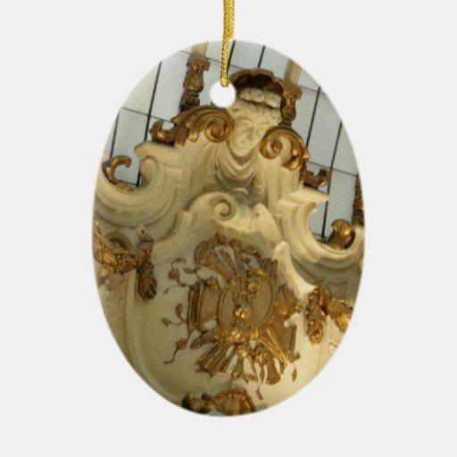 Ornamento barroco/rococó del navidad del palacio adorno