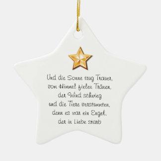 Ornamento bellísimo de propensión adorno navideño de cerámica en forma de estrella