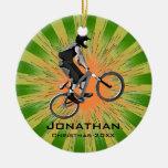 Ornamento Biking personalizado Adorno Navideño Redondo De Cerámica