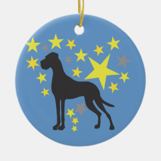 Ornamento bilateral adorno navideño redondo de cerámica
