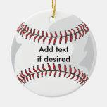 Ornamento bilateral del béisbol ornato