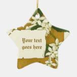 Ornamento blanco de dibujo del jazmín del vintage ornamento para reyes magos