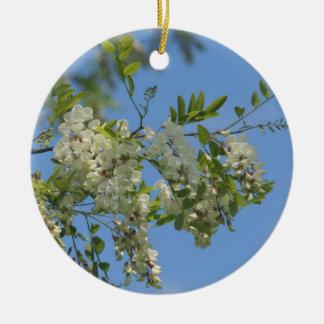 Ornamento blanco de la flor de los flores de la ornamento para reyes magos