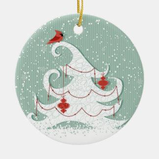 Ornamento blanco del árbol ornamentos de reyes
