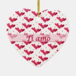 Ornamento blanco del corazón del amor de los punto adornos