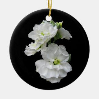 Ornamento blanco del navidad del flor ornamentos para reyes magos