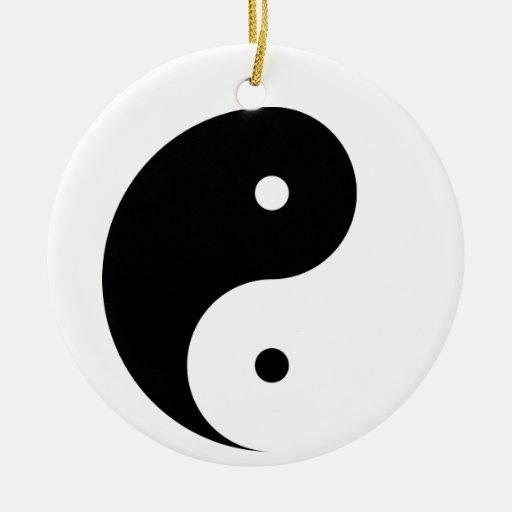 Ornamento blanco y negro del colgante de Yin Yang Ornamento De Reyes Magos