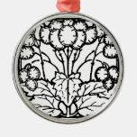 Ornamento blanco y negro del diseño de la hoja del ornamentos de reyes magos