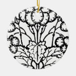 Ornamento blanco y negro del diseño de la hoja del ornamento para reyes magos