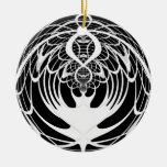 Ornamento blanco y negro del navidad del fractal ornamente de reyes