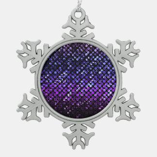 Ornamento Bling cristalino púrpura Strass Adorno De Peltre En Forma De Copo De Nieve