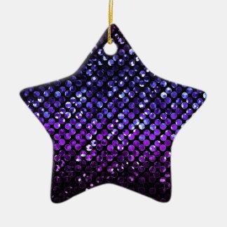 Ornamento Bling cristalino púrpura Strass Adorno De Cerámica En Forma De Estrella