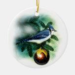 Ornamento bonito del árbol del arrendajo azul del ornamento para reyes magos