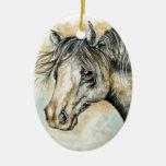 Ornamento bonito del caballo ornamentos para reyes magos