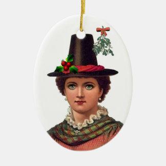Ornamento bonito del chica Galés Ornamentos De Reyes Magos
