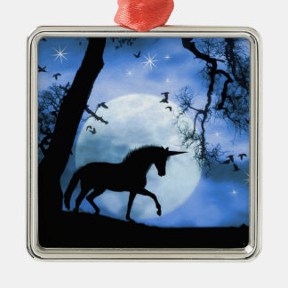 Ornamento bonito del navidad del unicornio
