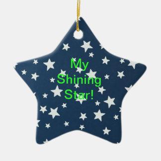 Ornamento brillante de la estrella ornamento para arbol de navidad