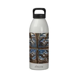 Ornamento brillante del oro botella de agua reutilizable