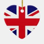 Ornamento BRITÁNICO de la bandera Ornamentos De Navidad