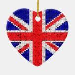 Ornamento BRITÁNICO de la bandera Adorno De Navidad