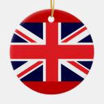 Ornamento británico de Union Jack Ornamente De Reyes