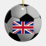 Ornamento británico del fútbol del fútbol de Union Adorno Navideño Redondo De Cerámica