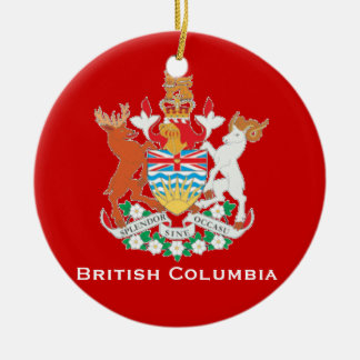 Ornamento británico del navidad de Columbia* Adorno Redondo De Cerámica