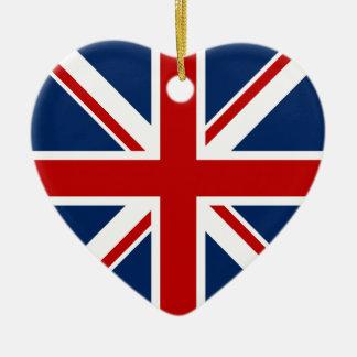 Ornamento británico del navidad de la bandera adorno de reyes