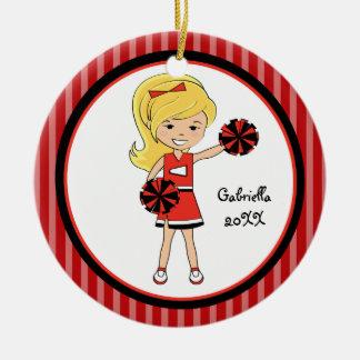 Ornamento cabelludo rubio lindo del navidad de la  ornamentos de navidad