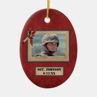 ornamento caido personalizado de los militares del ornamentos de navidad