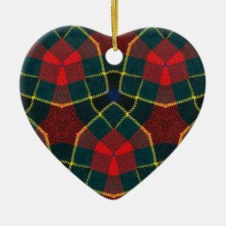 Ornamento caleidoscópico .2 del corazón adorno de cerámica en forma de corazón