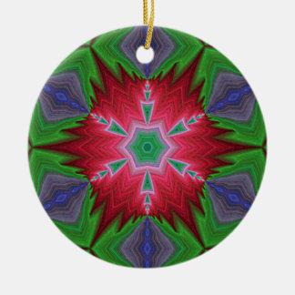 Ornamento caleidoscópico del fractal personal A20 Adorno Redondo De Cerámica