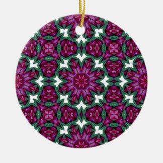 Ornamento caleidoscópico floral de la mandala adorno redondo de cerámica
