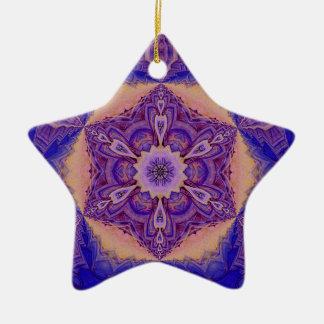 Ornamento caleidoscópico personalizado. Star.1 Adorno De Cerámica En Forma De Estrella