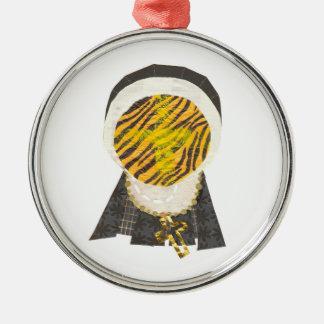 Ornamento caliente del premio de la monja del adorno redondo plateado