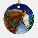 Ornamento calvo del día de fiesta del caballo de l ornamento para arbol de navidad
