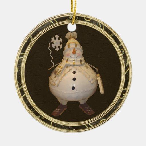 Ornamento caprichoso del muñeco de nieve del adorno de navidad