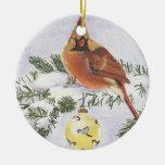 Ornamento cardinal bilateral hermoso ornamento para reyes magos