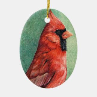 Ornamento cardinal del perfil del arte del pájaro ornamente de reyes